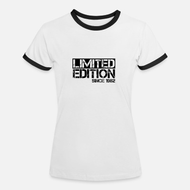 Birth Limited Edition 1982 Birthday birth year birth - Women's Ringer T-Shirt