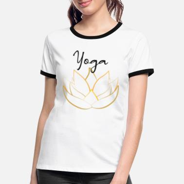Yoga Lotusblume - Frauen Ringer T-Shirt