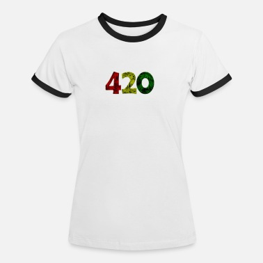 420 THE 420 - Women's Ringer T-Shirt