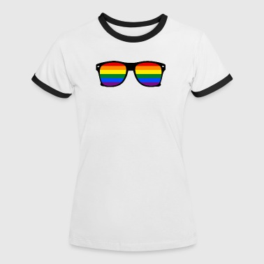 glasses rainbow - Women's Ringer T-Shirt