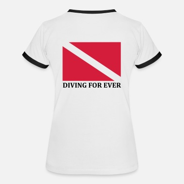 DIVING FOR EVER - T-shirt contrasté Femme
