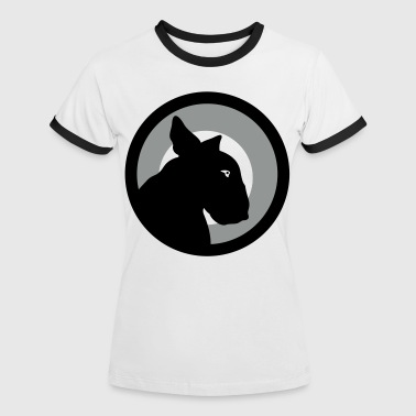 Bull Terrier Target Red - Women's Ringer T-Shirt
