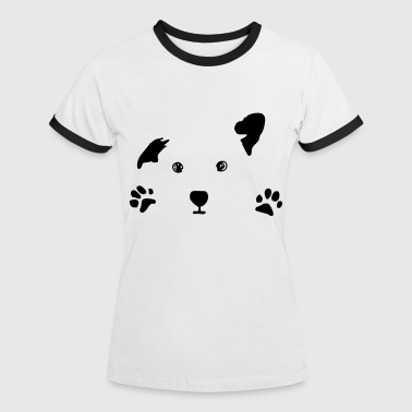dog, puppy, dog face - Women's Ringer T-Shirt
