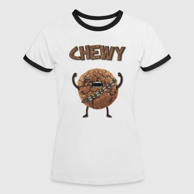 Funny Nerd Humor - Chewy Chocolate Cookie Wookiee - T-shirt contrasté Femme