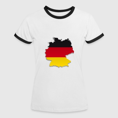 Map of Germany 4 - Women's Ringer T-Shirt