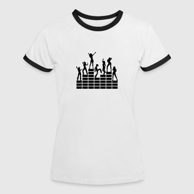 Dancing girls - equalizer - EQ -  music - sound - Women's Ringer T-Shirt