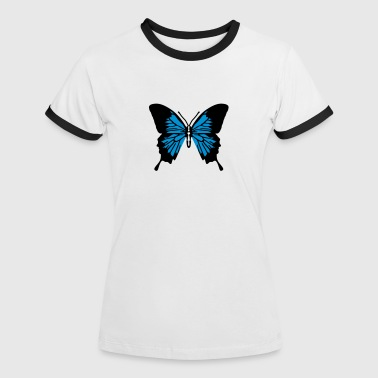 Papillon simple - T-shirt contrasté Femme