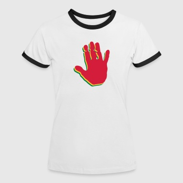 Rasta Hands - Women's Ringer T-Shirt