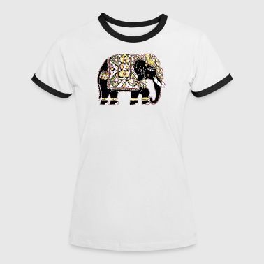 Indian elephant for luck - Women's Ringer T-Shirt