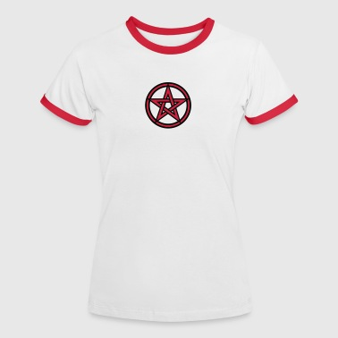 Pentagram amulet- Sign of intellectual omnipotence and autocracy. 2c, Star of the Magi , powerful symbol of protection - T-shirt contrasté Femme