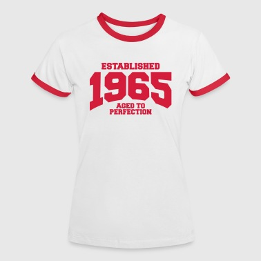 aged to perfection established 1965 (es) - Camiseta contraste mujer
