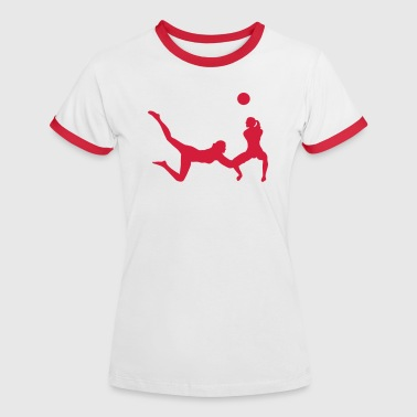 volley-ball - T-shirt contrasté Femme