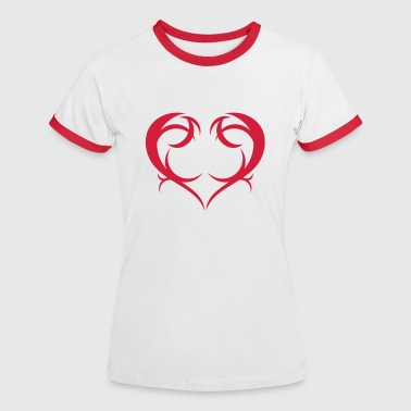 Herz; Heart - Women's Ringer T-Shirt