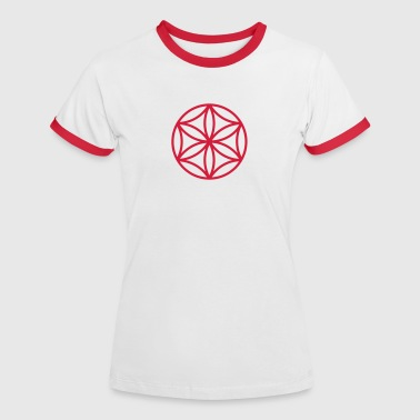 Flower of Aphrodite, c, Symbol of  love, beauty and transformation, Power Symbol, Talisman - T-shirt contrasté Femme