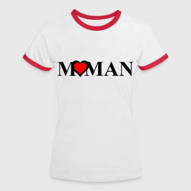 maman Tops - Camiseta contraste mujer