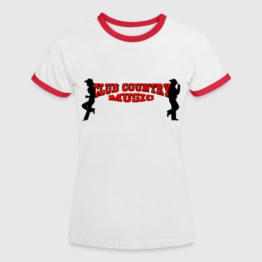 club country music - Camiseta contraste mujer