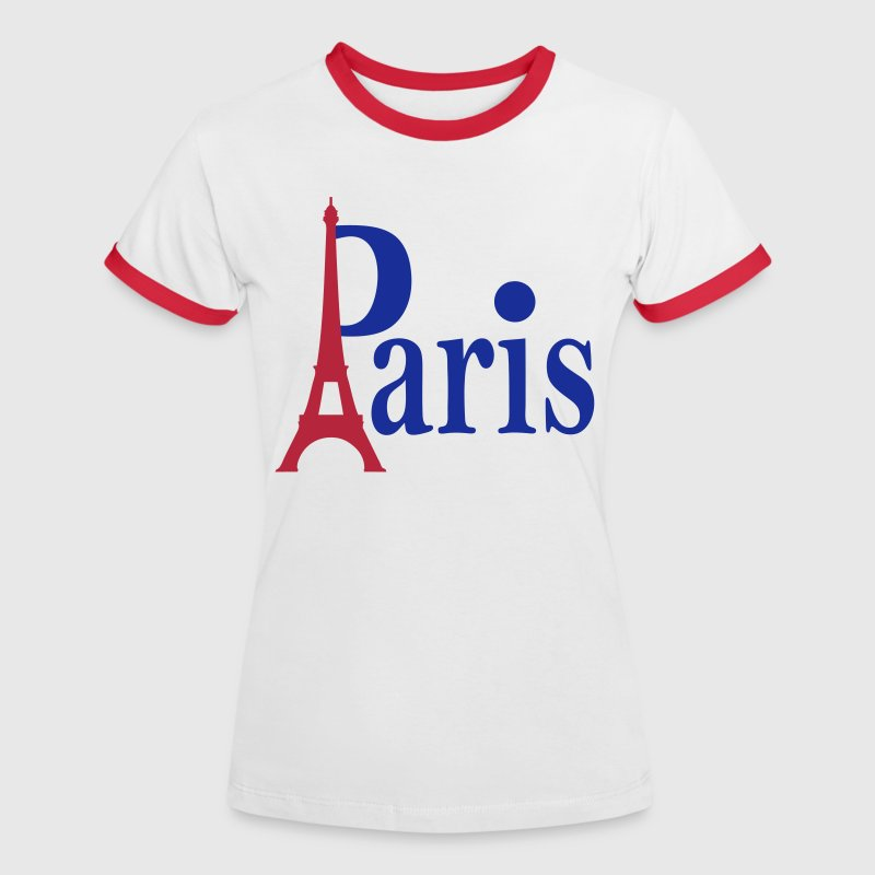 Paris Capitale France - T-shirt contrasté Femme