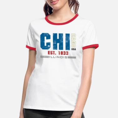 Chicago Bears Chicago - Women's Ringer T-Shirt