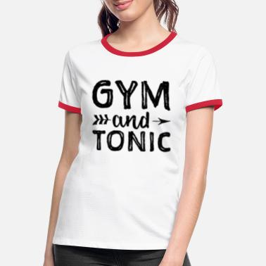 Gym And Tonic Gym And Tonic - Fitness - Kontrast T-shirt dame