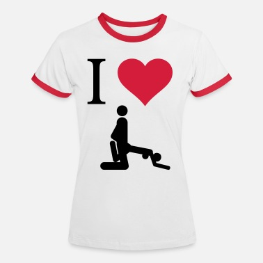 Clitoris I love Sex - T-shirt contrasté Femme