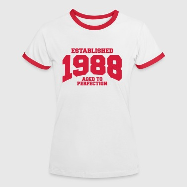 aged to perfection established 1988 (uk) - Women's Ringer T-Shirt