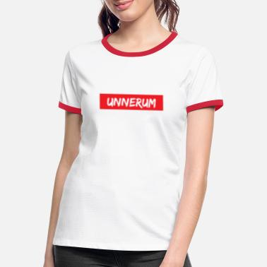 Aeppelwoi unnerum T-Shirt | Hessen Hessian dialect - Women's Ringer T-Shirt