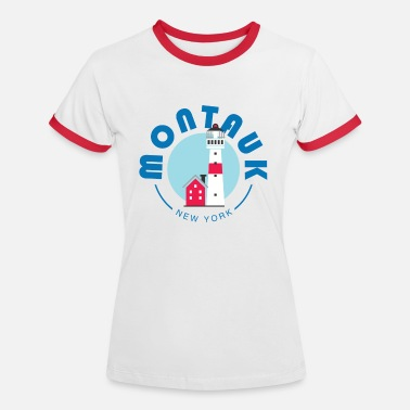 Suffolk Montauk - New York - Frauen Ringer T-Shirt