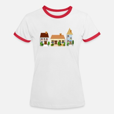 street of old town - Women's Ringer T-Shirt