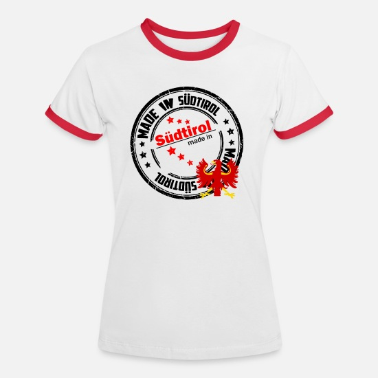 Patriot T-Shirts - Made in South Tyrol - Women's Ringer T-Shirt white/red