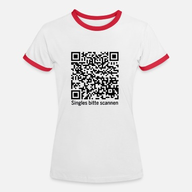 QR kode for singler / dating - Kontrast T-skjorte for kvinner