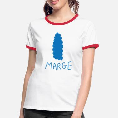 Margin Blue hair margin - Women's Ringer T-Shirt