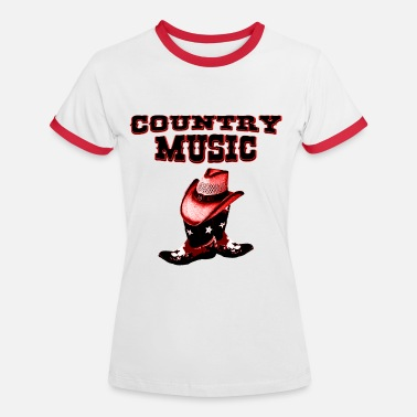 Música Country country music - Camiseta contraste mujer