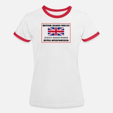 Armed Forces British Armed Forces - Women's Ringer T-Shirt