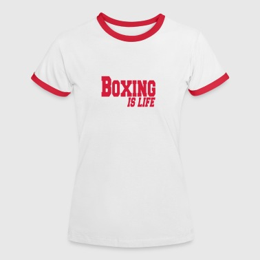 Martial Arts boxing is life - Dame kontrast-T-shirt
