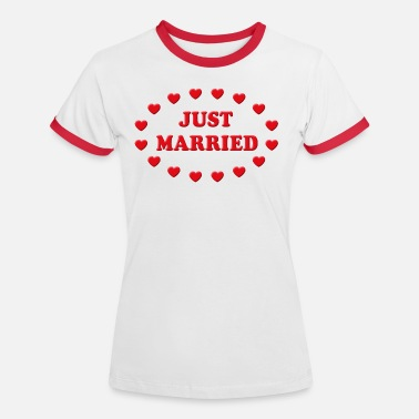 Just Married Just Married Corazoncitos (Boda / Nupcias) - Camiseta contraste mujer