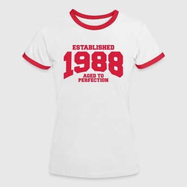 aged to perfection established 1988 (fr) - T-shirt contrasté Femme
