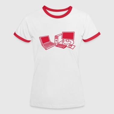 computers_1c - Frauen Kontrast-T-Shirt