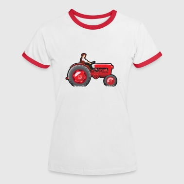 Red Tractor - Women's Ringer T-Shirt
