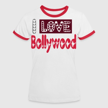 i love bollywood - T-shirt contrasté Femme