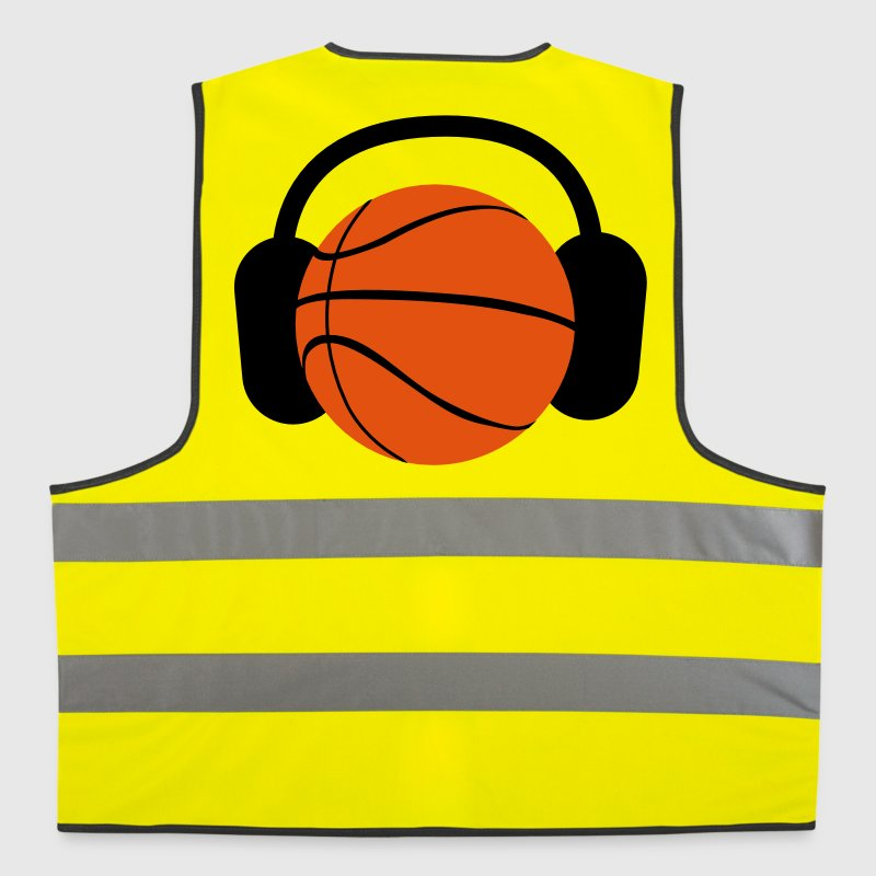 BASKETBALL with headphones listening to music - Reflective Vest