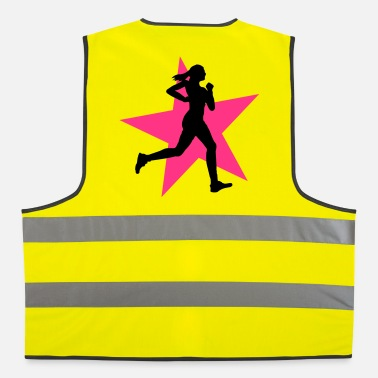 Training running woman with star 2c / jogging - Gilet de sécurité