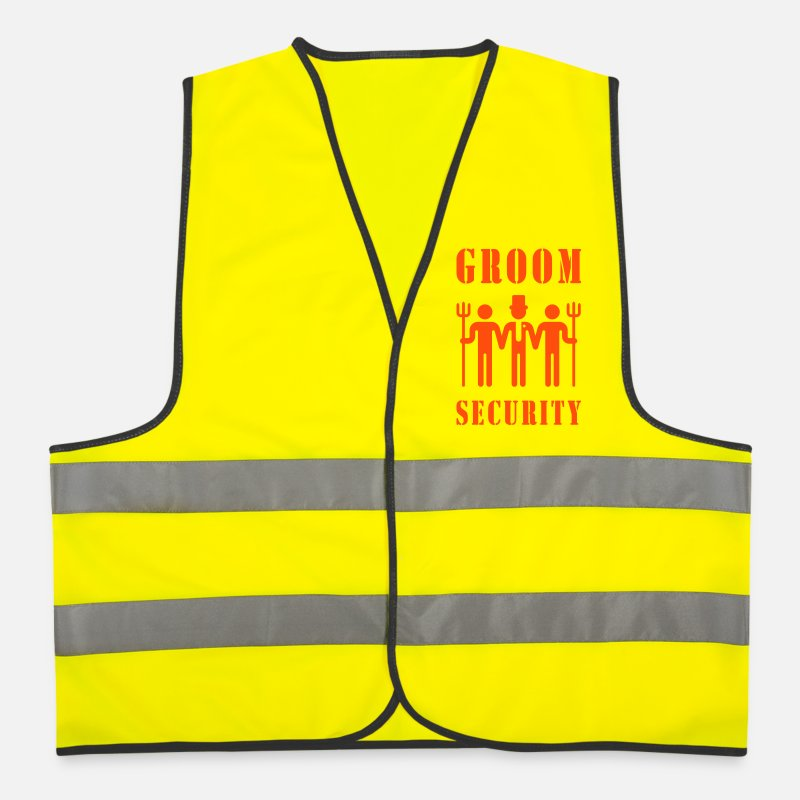 Stag Jackets & Vests - Groom Security (Bachelor Party / Stag Night) - Reflective Vest neon yellow