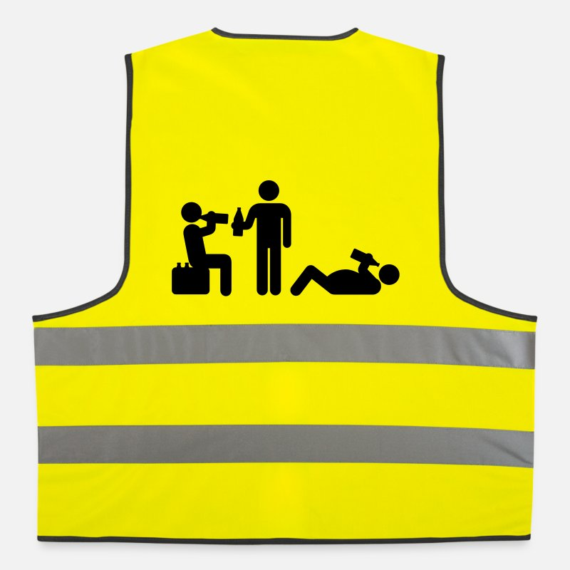 Boozy Jackets & Vests - boozy alcohol vodka beer drunk drinking - Reflective Vest neon yellow