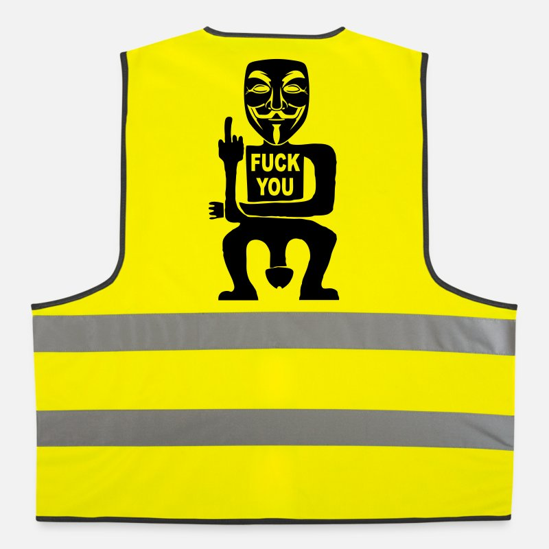 Anonymous Vestes et gilets - fuck you - Gilet de sécurité jaune néon