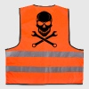 Car Tuning / Car & Bike Wrench - Skull - Reflective Vest