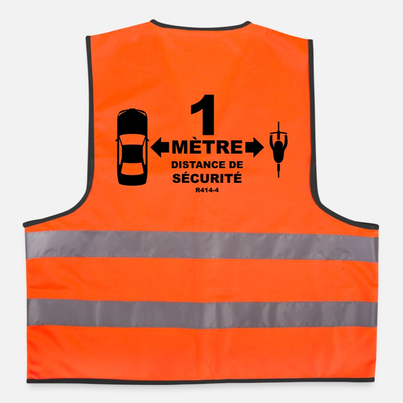 Safety Vestes et gilets - distance securite velo - Gilet de sécurité orange néon