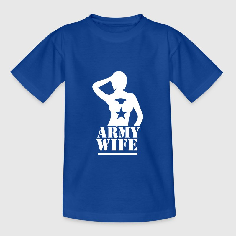 SEXY lady ARMY WIFE saluting - Kids' T-Shirt