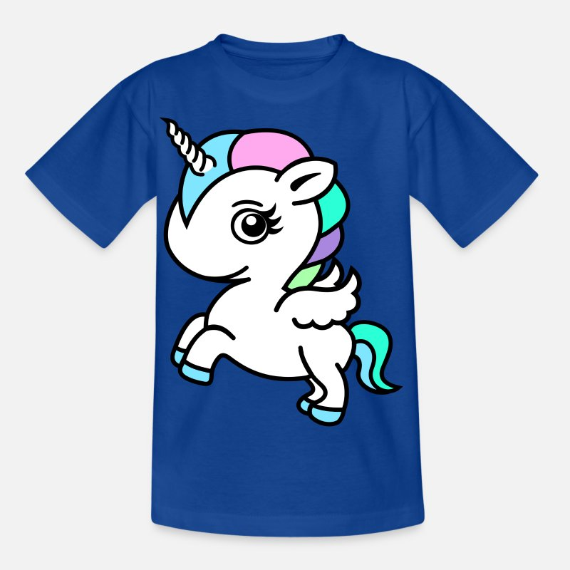 Unicorn T-Shirts - Colourful Unicorn - Kids' T-Shirt royal blue