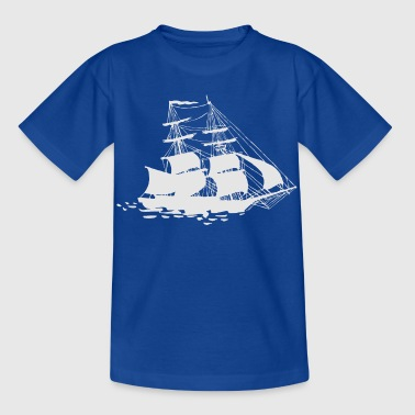Windjammer weiss - Kinder T-Shirt