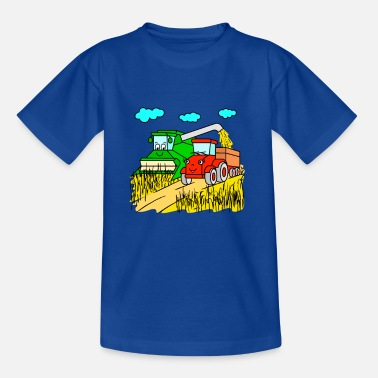 Combine Combine harvester and tractor at harvest - Kids' T-Shirt